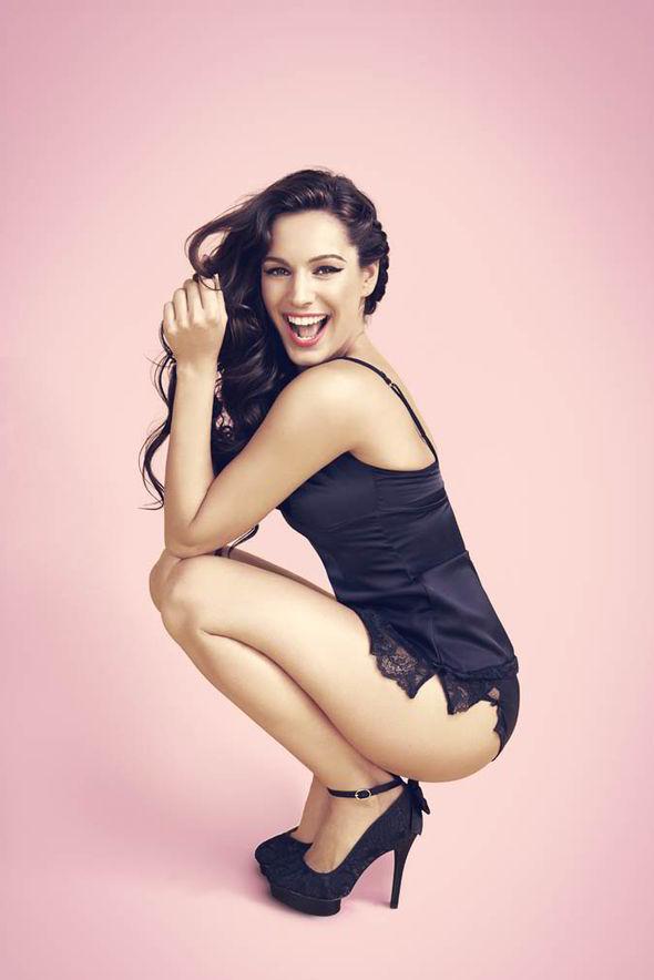 Kelly Brook Models Her Range Of Valentines Day Lingerie