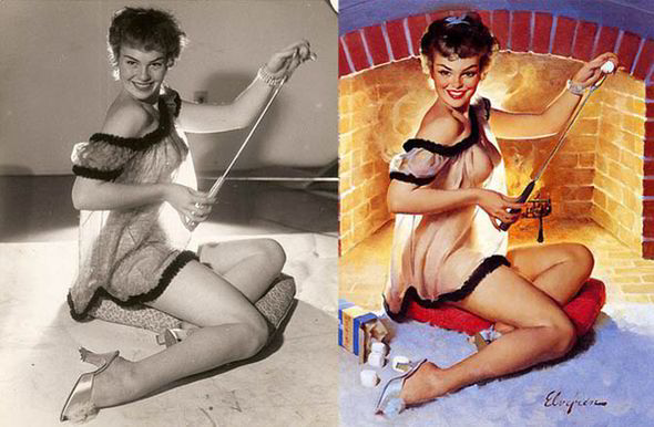 Gil Elvgrens Pin Up Queens 18 Real Women Behind Famous