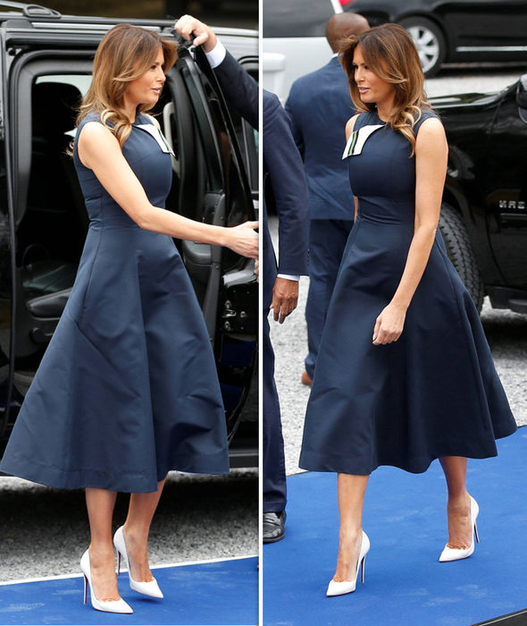 Melania Trump style shot Belgium