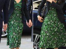 Meghan Markle wears DARING low cut £385 dress next to ...