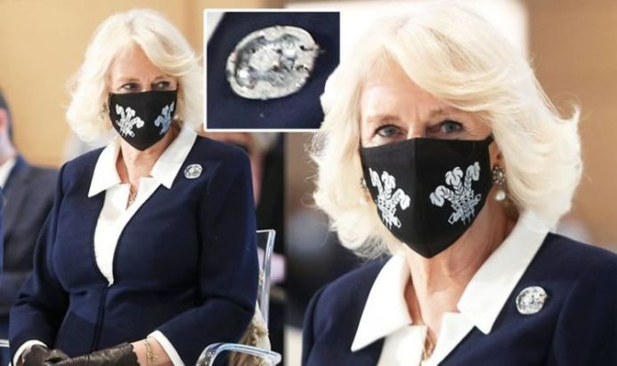 Camilla Parker Bowles wears diamond brooch with nod to Queen Mother on royal tour today