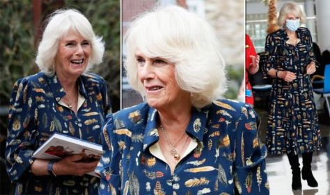'Wonderful as always': Camilla wows in 'fancy dress' and lashing of gold jewellery