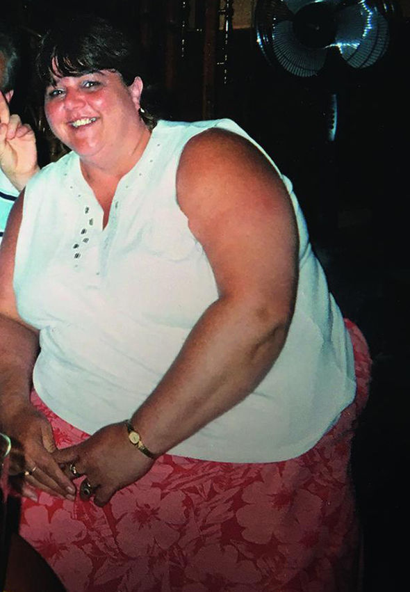 Debbie Chrich before losing 9 stone 3.5 pounds