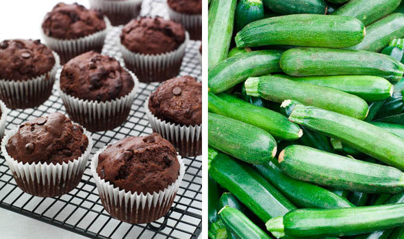 Muffins and courgettes