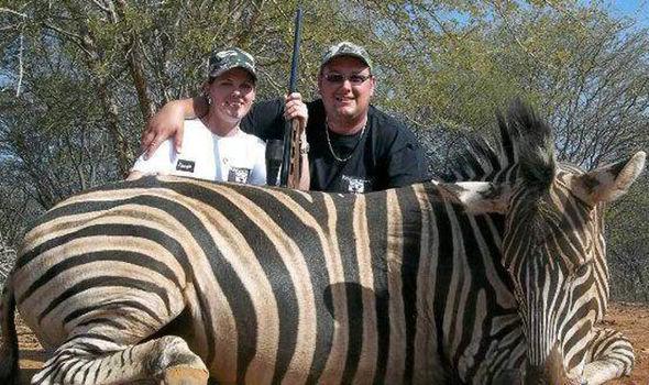 Tanya Chegwidden with a zebra