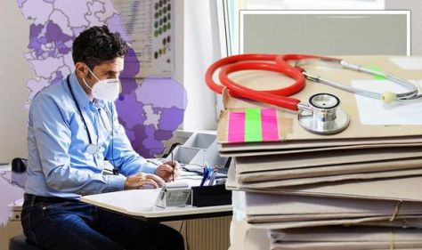 Incredible map lays bare staggering GP shortage in UK - with ONE doctor for 3,000 patients
