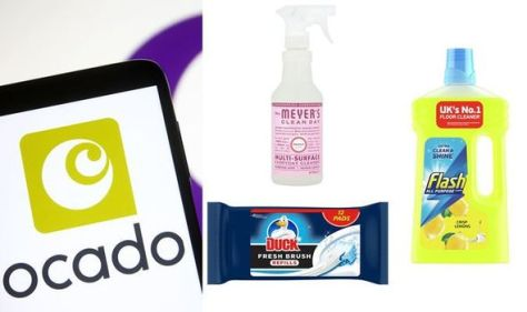 Ocado slashes 25 percent off top cleaning products from Flash, Cif, Mrs Meyer's and more