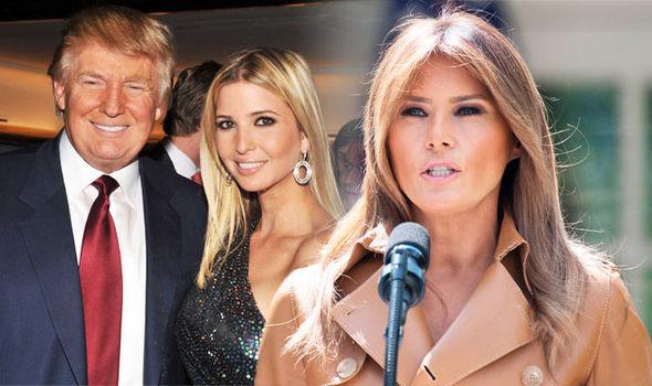 Donald Trump, Ivanka and Melania