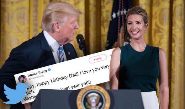 Ivanka Trump Donald Trump birthday