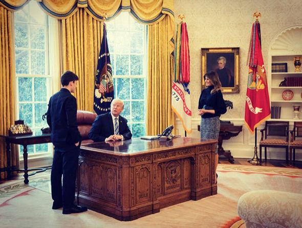 Donald and Melania Trump meet high school shooting survivor Kyle Kashuv at White House