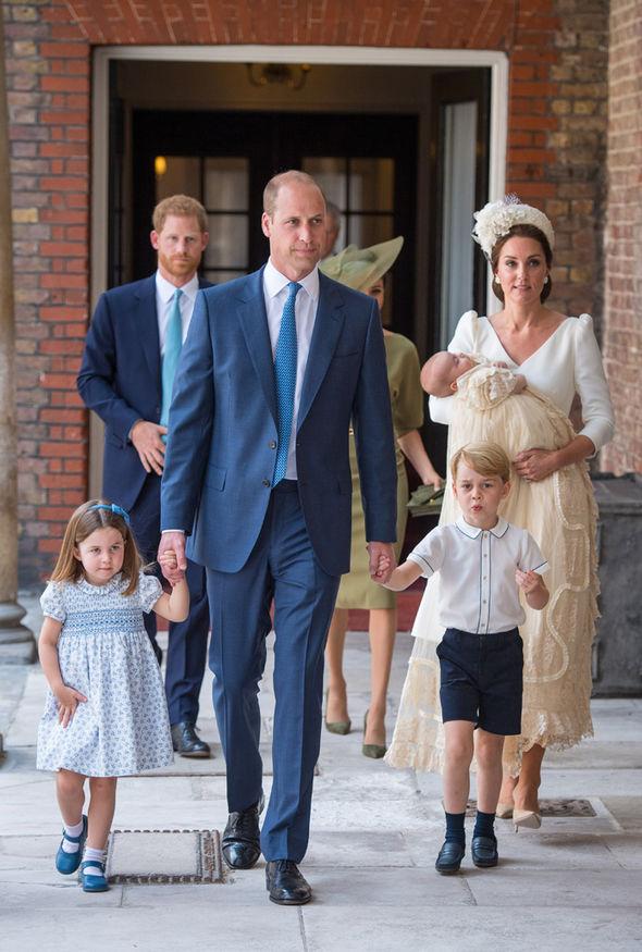 Prince Louis christening Cambridge family photo