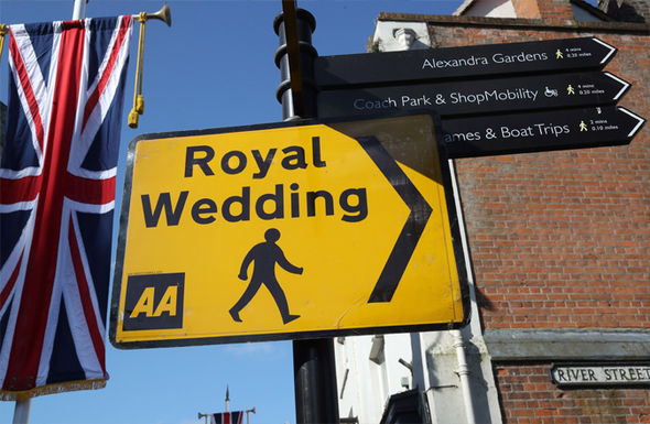 Sign for the Royal Wedding