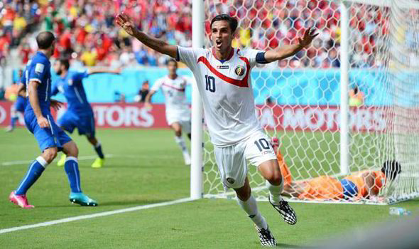 Costa Rica, Italy, Group D, World Cup, Mario Balotelli, Bryan Ruiz, Fulham