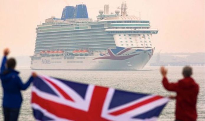P&O Cruises welcomes back vaccinated Britons onboard its first sailing in 15 months