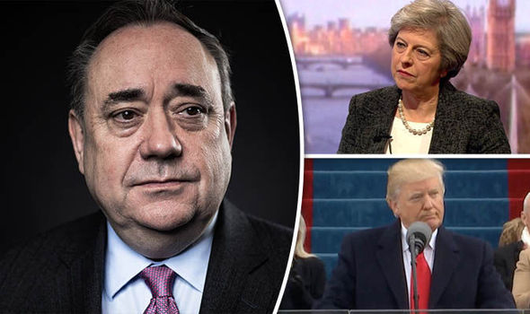 Alex Salmond, Theresa May, Donald Trump