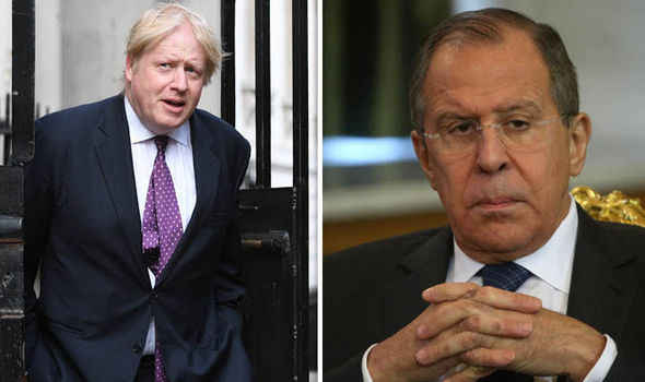 Boris Johnson - Sergey Lavrov