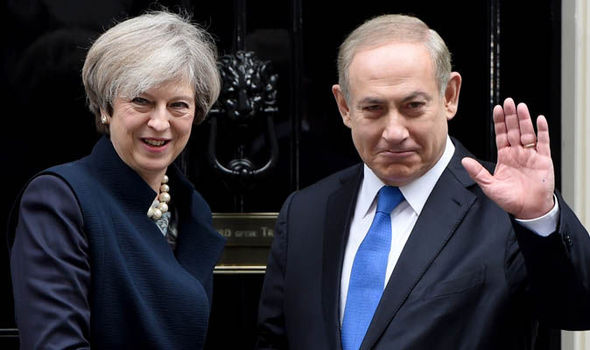 Benjamin Netanyahu Theresa May