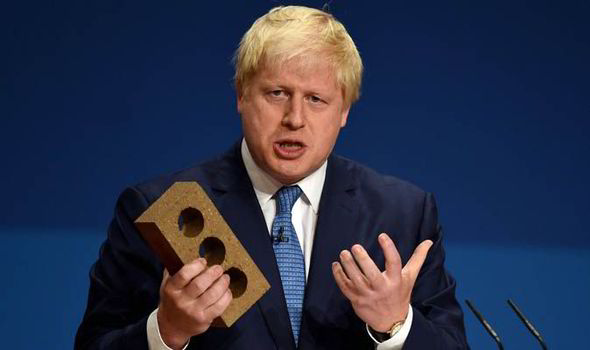 Boris Johnson speaks at Conservative Party annual  conference