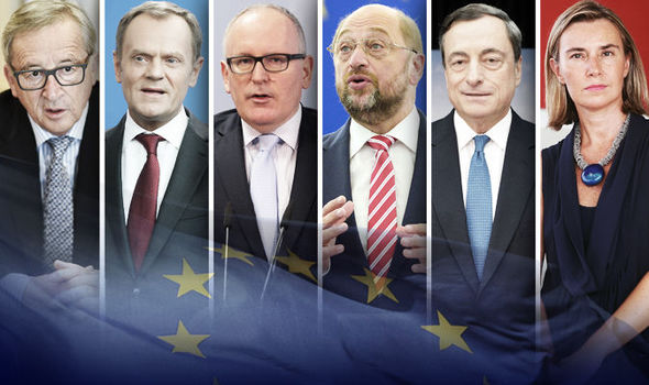 Six EU leaders: Pro-EU Labour party stalwart and MP Harriet Harman failed to recognise the EU's most powerful officials in an embarrassing TV moment during the referendum campaign/