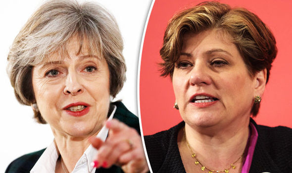 Emily Thornberry and Theresa May