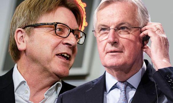 Guy Verhofstadt Michel Barnier