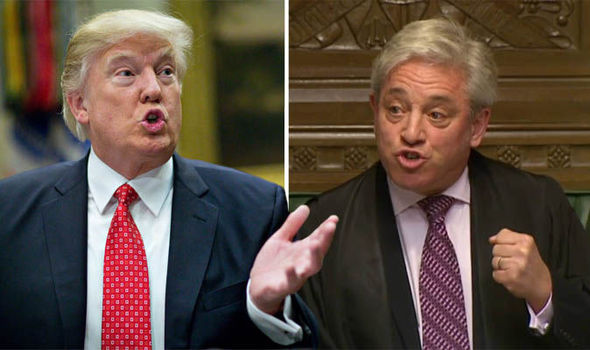 Donald Trump and John Bercow