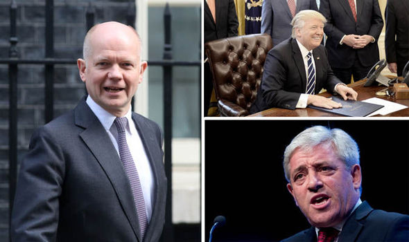 John Bercow, Donald Trump, and Lord Hague