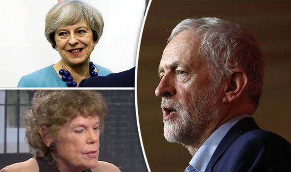 Theresa May, Kate Hoey and Jeremy Corbyn