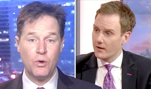 Nick Clegg and Dan Walker