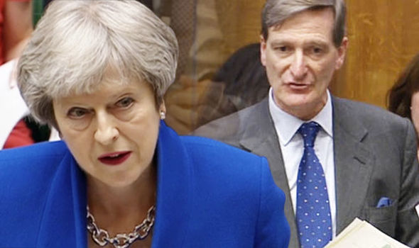 Brexit news: Theresa May and Dominic Grieve  Brexit LIVE: Parliament VOTES DOWN Dominic Grieve's amendment, Lords REJECTED | Politics | News Theresa May 976822