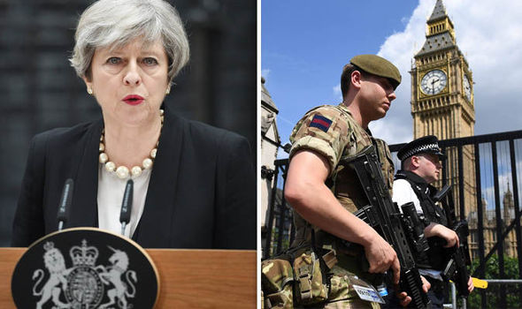Theresa May - Military in London