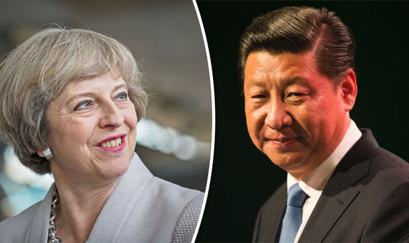 Theresa May and Xi Jingping