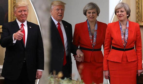 Theresa may and Donald May