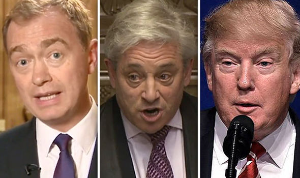 Tim Farron, John Bercow, Donald Trump