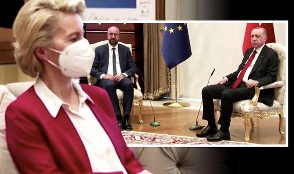 Ursula von der Leyen Charles Michel Recep Tayyip Erdogan