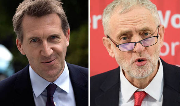 Dan Jarvis (left) and Jeremy Corbyn (right)