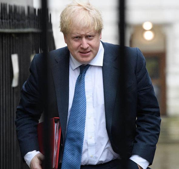 Foreign Secretary Boris Johnson is walking
