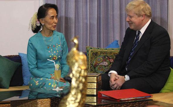 Boris Johnson and Aung San Suu Kyi