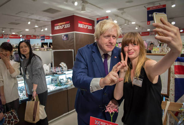 Locals were excited to take selfies with Boris
