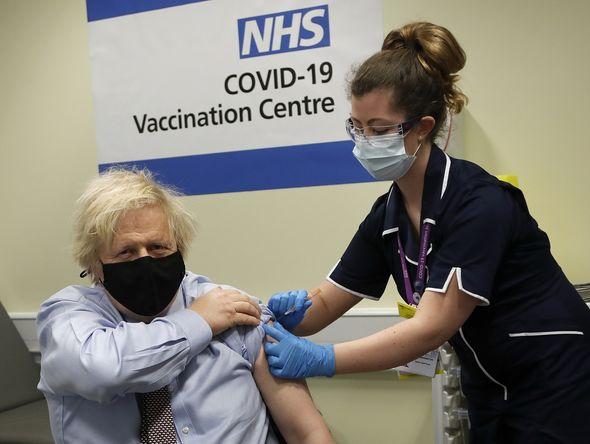 Boris Johnson received the AstraZeneca vaccine