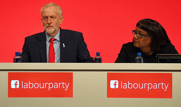 Jeremy Corbyn and Diane Abbott at press conference