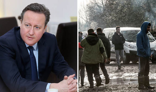 David Cameron and migrants