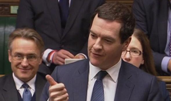 George Osborne speaking in parliament