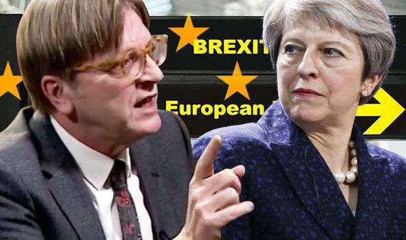 Guy Verhofstadt says the Brexit vote is 'stupid'  Remainers PLEAD with Guy Verhofstadt to stop Brexit 'extremists' | Politics | News Guy Verhofstadt 1238135