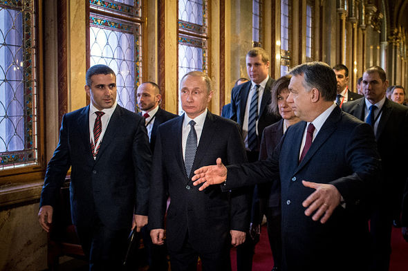 Mr Putin was in Hungary meeting new PM Viktor Orban last week