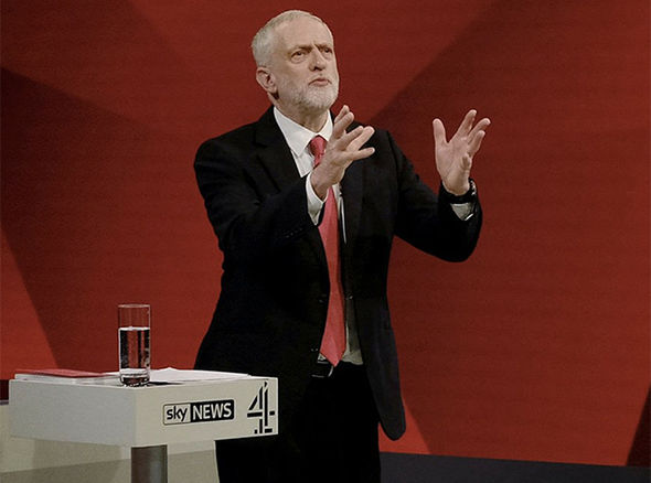 Jeremy Corbyn at the Battle for Number 10 debate