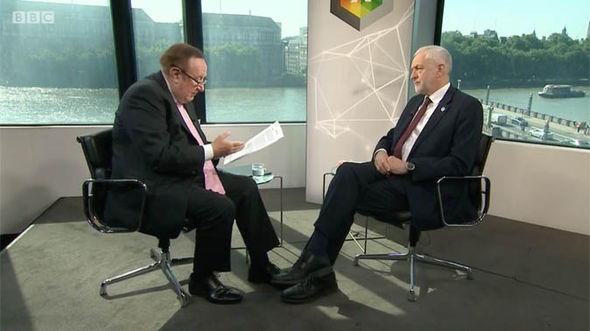 Jeremy Corbyn and Andrew Neil