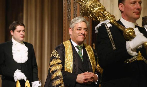 John Bercow in ceremonial robes