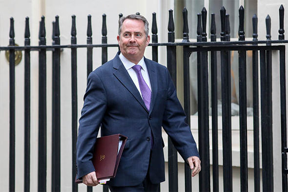 Liam Fox on Downing Street