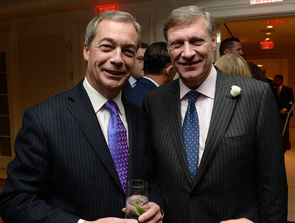 Ted Malloch with Ukip's Nigel Farage